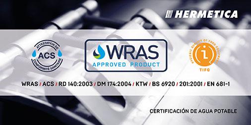 HERMETICA | Producto Certificado para Agua Potable