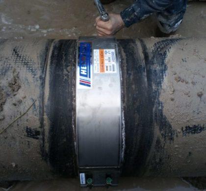 Reparación de tubería con una presión nominal de PN15 realizada con HERMETICA