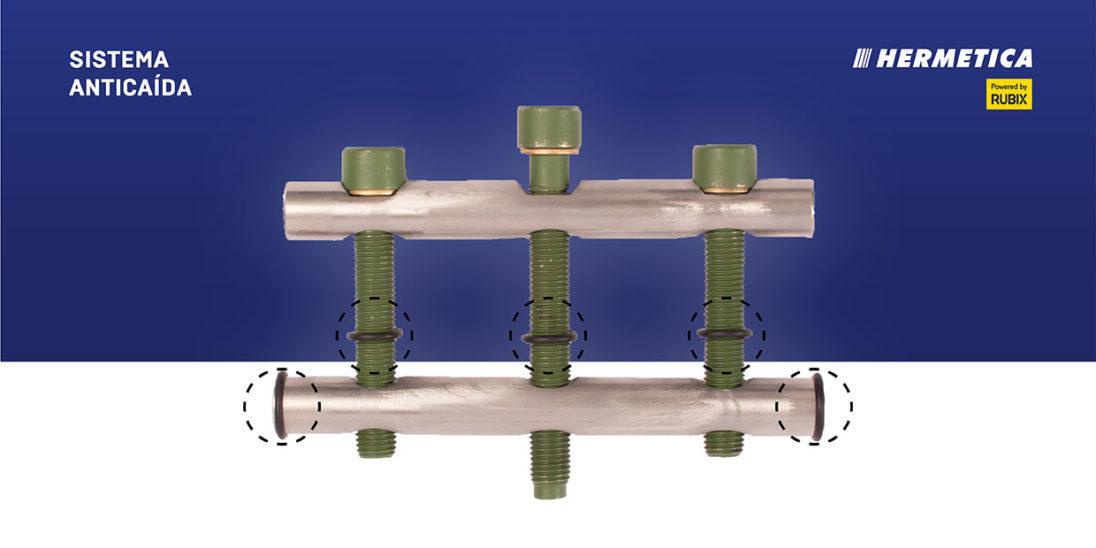 Tecnología Hold-ON. Sistema anticuada para abrazaderas de reparación y conexión de tuberías.