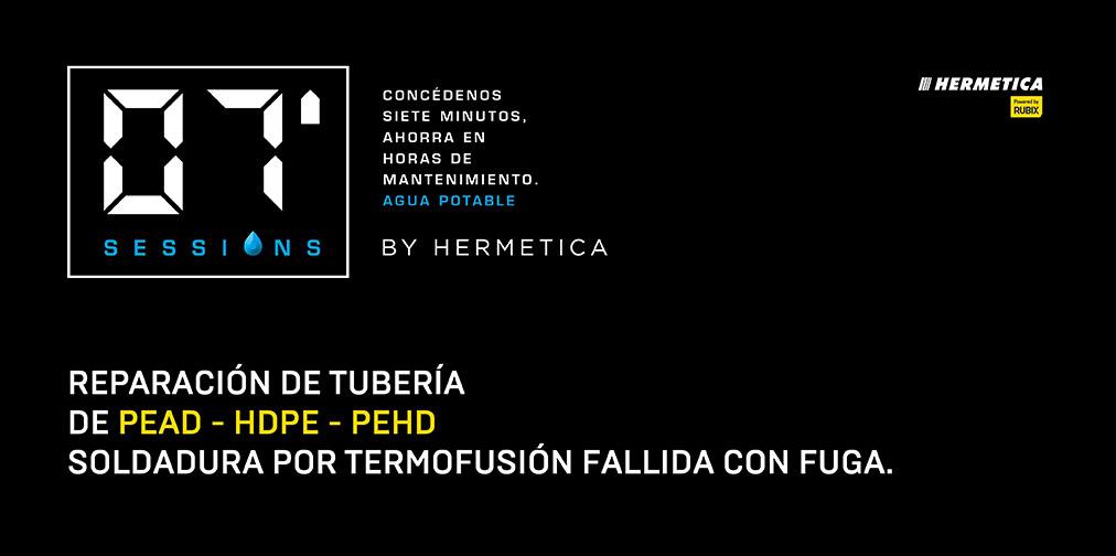 Reparación de tubería de PEAD – HDPE – PEHD soldadura por termofusión fallida con fuga.